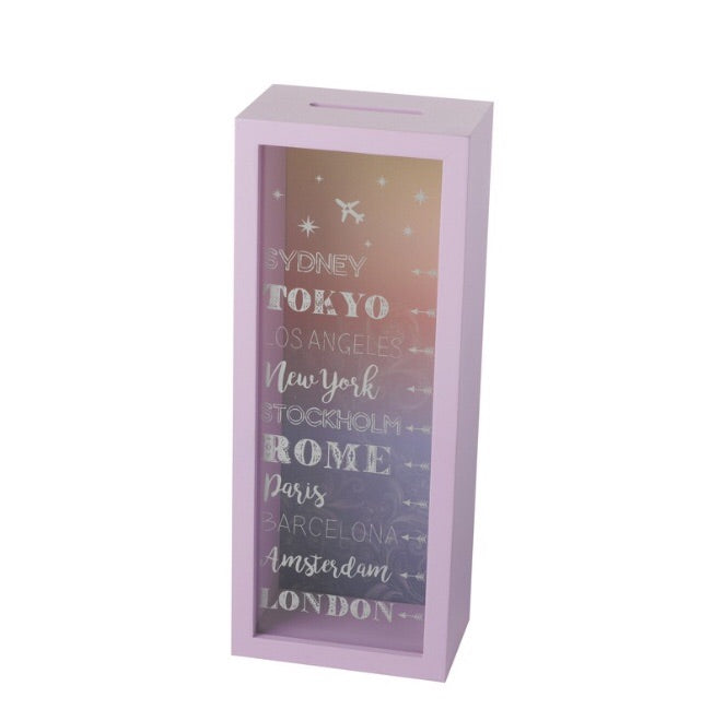 Pink Travelling Money Box - LX Crafts Co