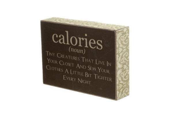"Wooden Block Sign ""Calories"" - LX Crafts Co"