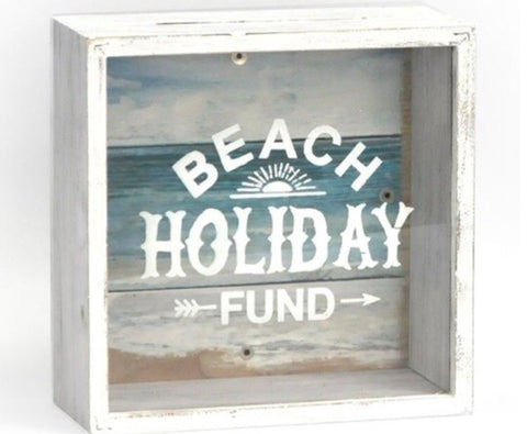 Beach Holiday Fund Money Box - LX Crafts Co