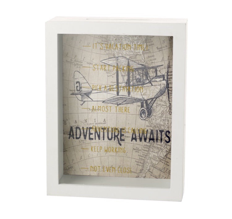 Adventure Awaits Money Box - LX Crafts Co