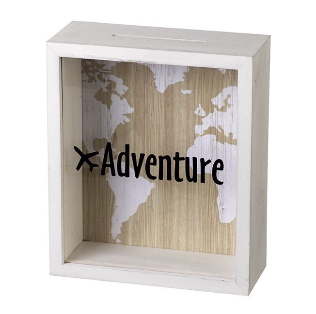 JUST IN | White Adventure Money Box - LX Crafts Co