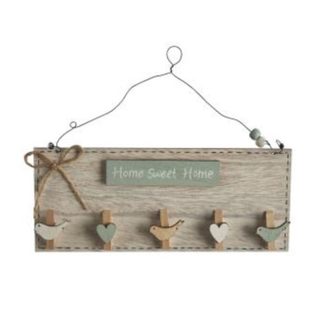 """Home Sweet Home"" Wooden Peg Sign - LX Crafts Co"
