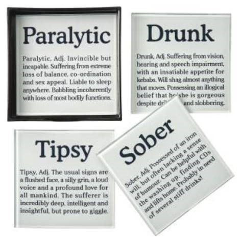 Drunk Definition Coasters - LX Crafts Co