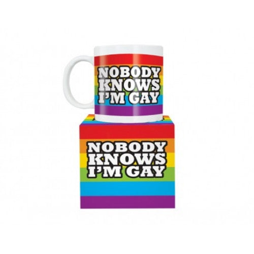 Nobody Knows I'm Gay Mug - Latest Trendz Novelty Gifts And Gadgets