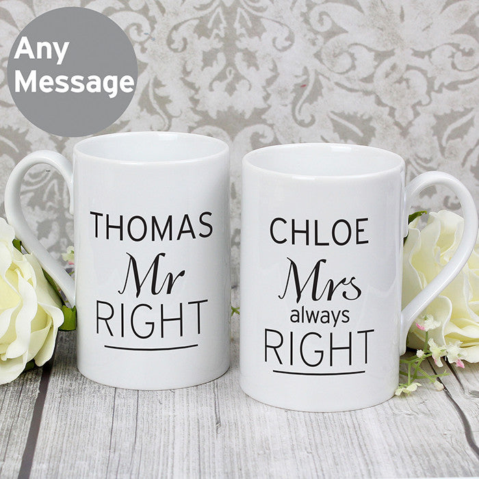 Classic Mr Right/Mrs Always Right Mug Set - Latest Trendz Novelty Gifts And Gadgets