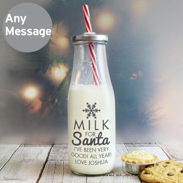 Milk for Santa Milk Bottle - Latest Trendz Novelty Gifts And Gadgets