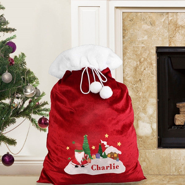 Personalised Tartan Santa Plush Sack - Latest Trendz Novelty Gifts And Gadgets