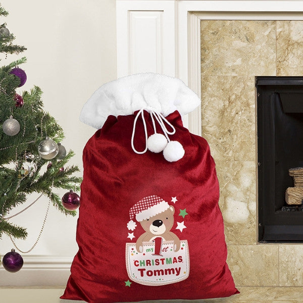 Pocket Teddy My 1st Christmas Plush Sack - Latest Trendz Novelty Gifts And Gadgets