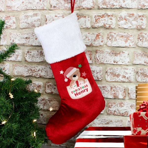 Pocket Teddy My 1st Christmas Stocking Gift Idea Latest Trendz UK