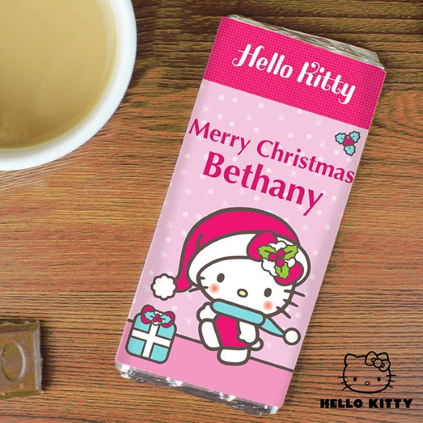 Personalised Hello Kitty Pink Christmas Milk Chocolate Bar - Latest Trendz Novelty Gifts And Gadgets