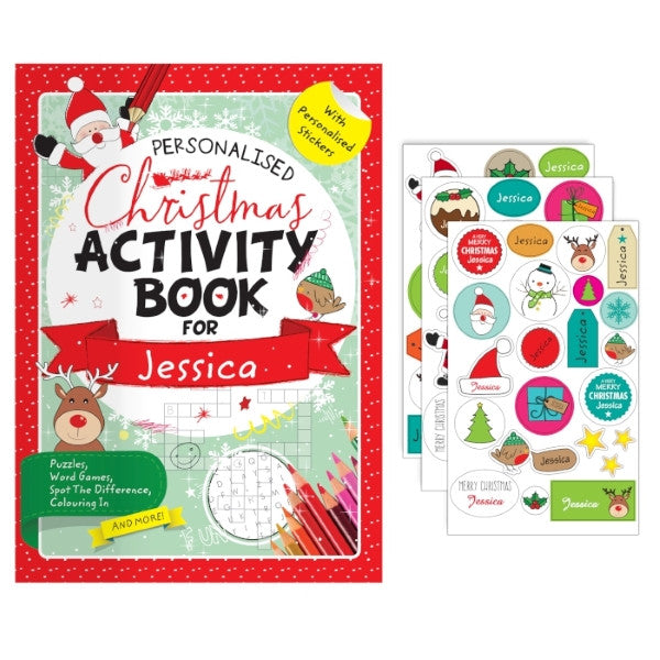 Personalised Christmas Activity Book with Stickers - Latest Trendz Novelty Gifts And Gadgets