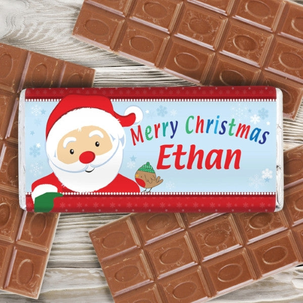 Personalised Santa Milk Chocolate Bar - Latest Trendz Novelty Gifts And Gadgets