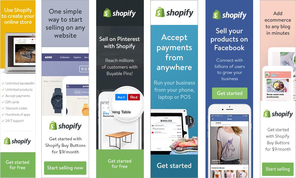 Shopify All banners