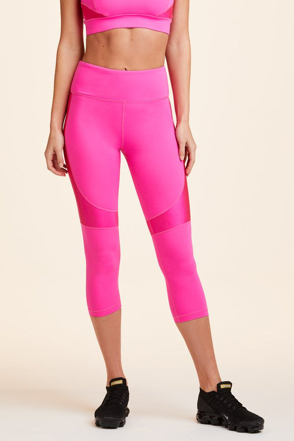 ALALA LEGGING CROP VAMP TIGHT HOT PINK
