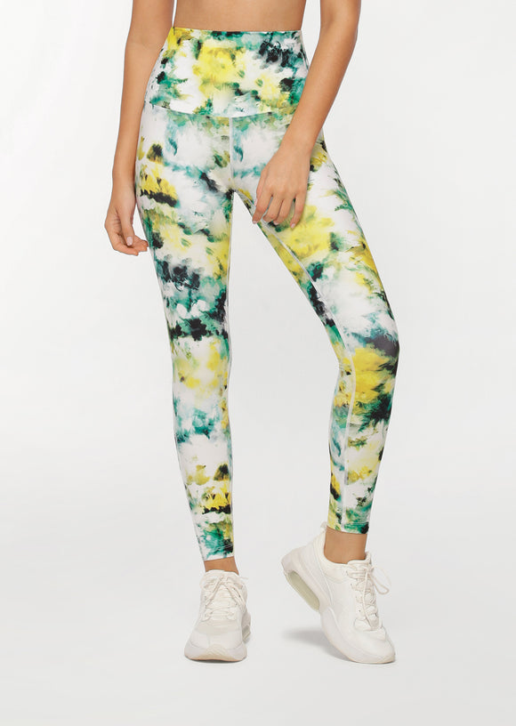 LORNA JANE LEGGING Grunge Tie Dye Full Length
