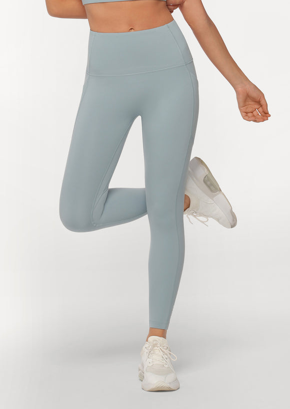 LORNA JANE LEGGING No Ride Booty Ankle Biter Mirror Blue