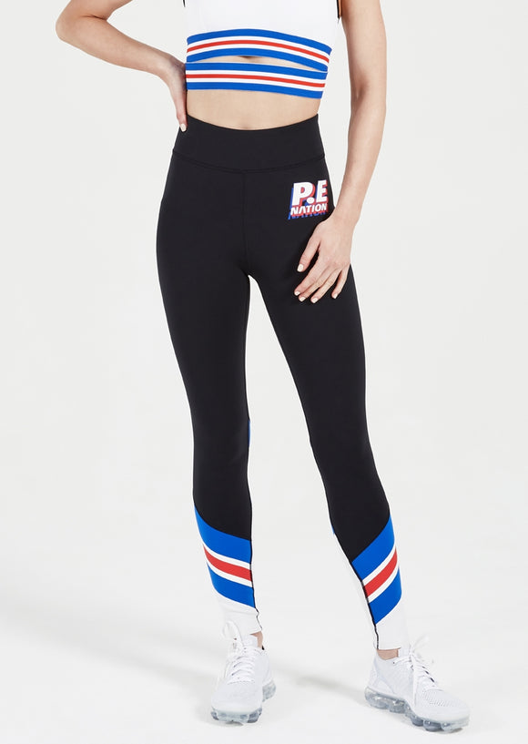 P.E NATION LEGGING FULL TOSS BLACK
