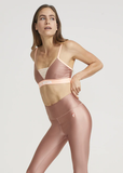 P.E NATION BRA CENTRE MARK IN ROSE DAWN PINK