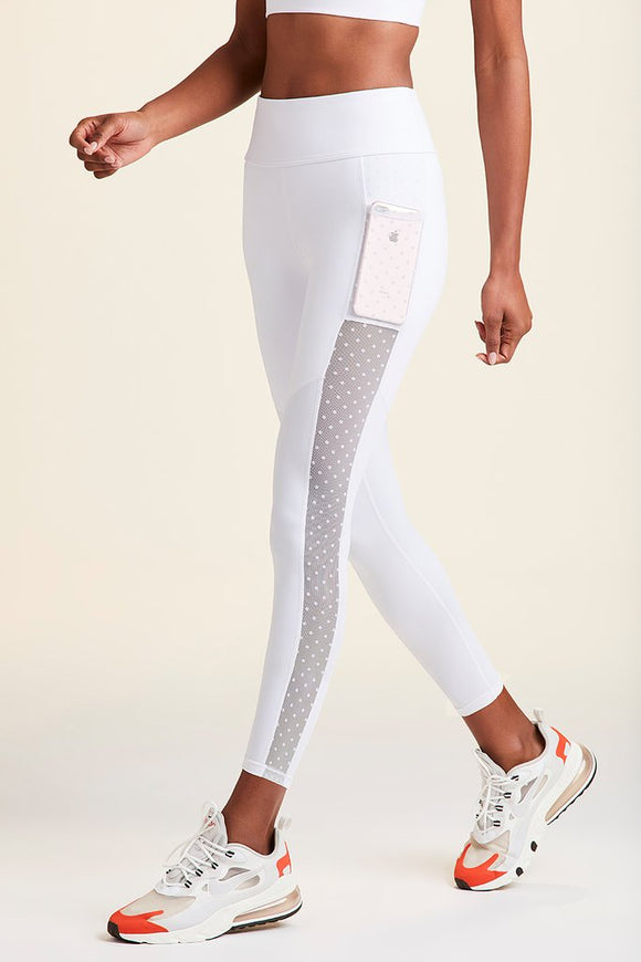 ALALA LEGGING MIRAGE CROP TIGHT WHITE DOT