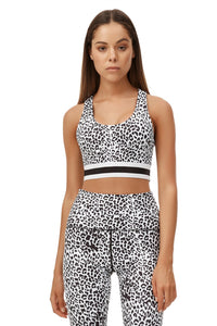 ALL FENIX WHITE LEOPARD SPORTS BRA