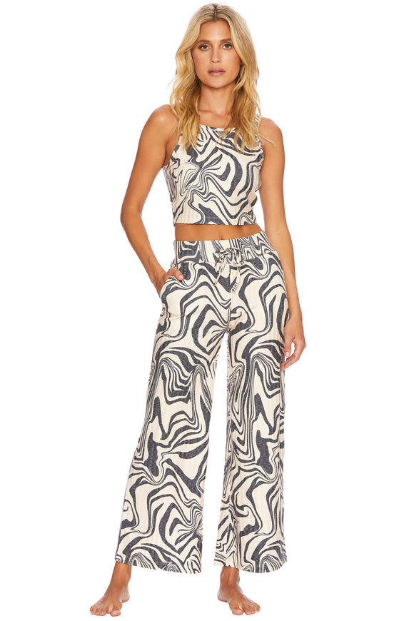 BEACH RIOT LOUNGEWEAR CAYLEE TANK AND HAILEY PANT SET - PSYCHEDELIC SWIRL