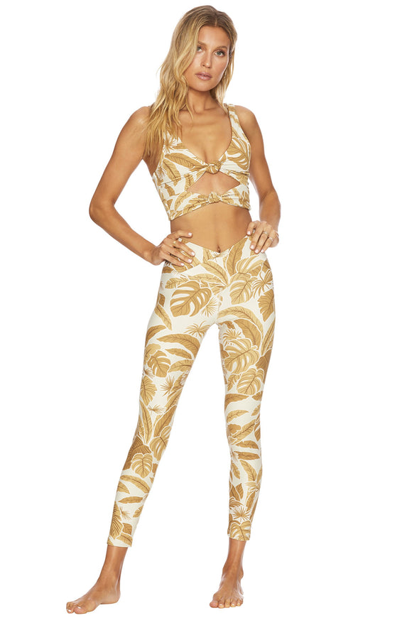 BEACH RIOT LEGGING CARA TAUPE VINTAGE TROPICAL