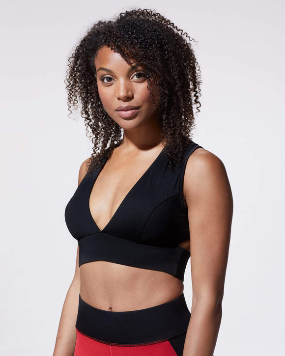 MICHI FLARE BRA BLACK