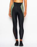 HEROINE LEGGING GYM [ BLACK/SAGE ]