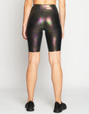 HEROINE LEGGING MARVEL BIKER SHORT [ SLICK BLACK ]