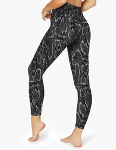 BEYOND YOGA Legging Lux Black Snake High Waisted Midi