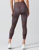 LILYBOD LEGGING ILLANOIS - STUCCO PRINT WINE