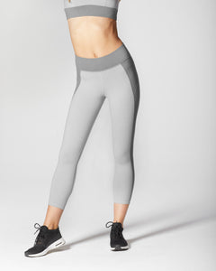 MICHI LEGGING LOTUS CROP MOONSTONE GREY