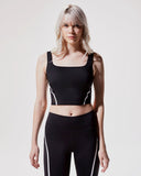 MICHI BRA CADENCE CROP BLACK / WHITE