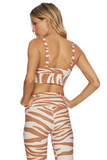 BEACH RIOT BRA LEAH TOP CLOUD CREAM ZEBRA PRINT