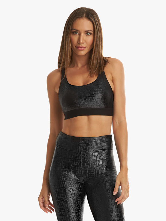 KORAL BRA Savannah Infinity Black Crocodile