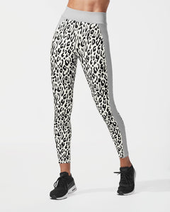 MICHI LEGGING POLARIS LEOPARD PRINT IVORY/MOONSTONE