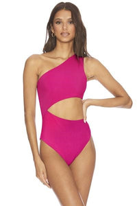 BEACH RIOT CELINE ONE PIECE FUCHSIA ROSE
