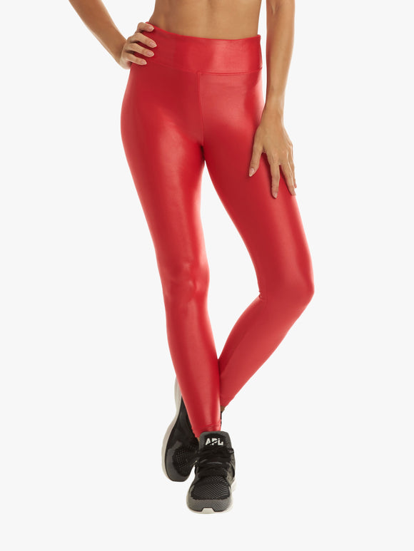 KORAL LEGGING Lustrous High Rise Infinity Chic Red