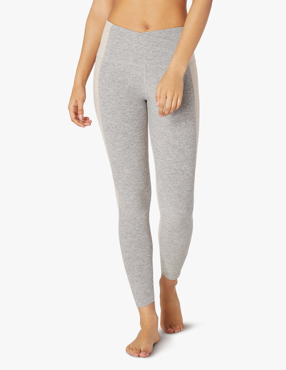 BEYOND YOGA Legging Spacedye Home Run High Waisted Midi - Silver Mist