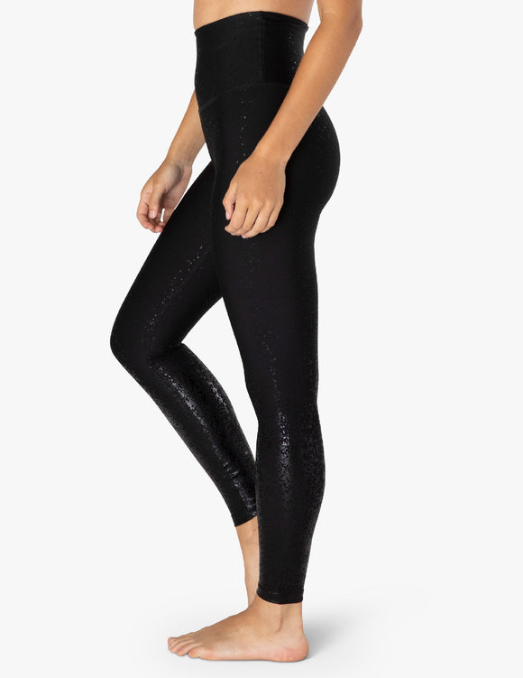 BEYOND YOGA Legging - Alloy Ombre High Waisted Midi - Black Foil Speckle