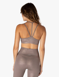 BEYOND YOGA Bra Twinkle - Mocha Brown-Rose Gold Twinkle