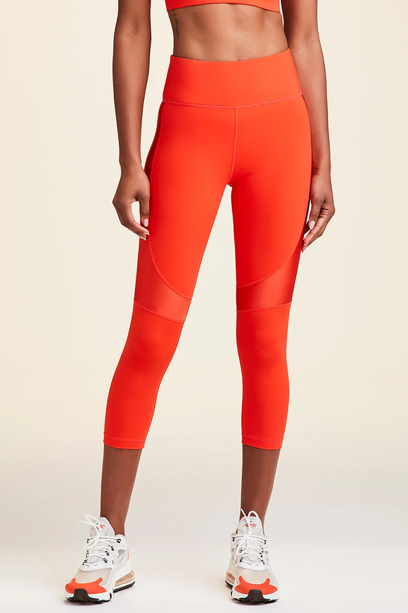 ALALA LEGGING CROP VAMP TIGHT - LAVA