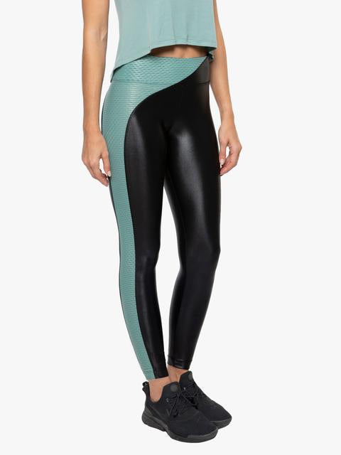 KORAL LEGGING CHASE HIGH RISE INFINITY - Black/Aquamarine