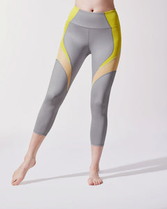 MICHI LEGGING GLOW CROP PLATINUM/ACID