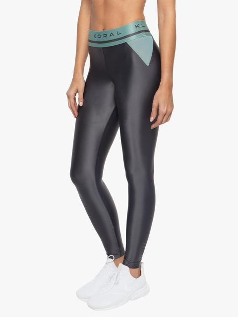 KORAL LEGGING WINDOW HIGH RISE ENERGY - Onyx/Aquamarine