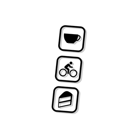 Coffee Cycle Cake Frame Decal