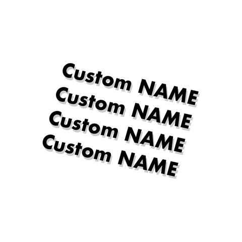Custom Name Frame Decal Set