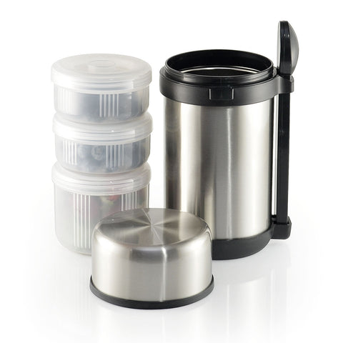 12-Piece Stainless Steel Vacuum Flask Lunch Set