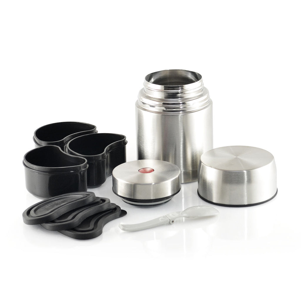 Stainless Steel Vacuum Insulated Lunch Set With 3 Containers