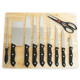 11-Piece Kitchen Knife Set With Cutting Board